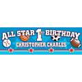 All-Star Sports 1st Birthday Photo Custom Banner - Small