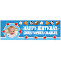 All-Star Sports Birthday Photo Custom Banner - Medium