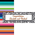 Black & White Filigree Border Wedding Custom Banner - Medium