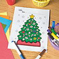 Christmas Tree Free Printable Coloring Page Image Thumbnail 1