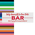 Food or Drink Bar Wedding Custom Banner - Small