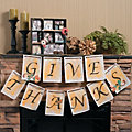 """Give Thanks"" Pennant Banner Idea Image Thumbnail 1"
