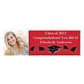 Graduation Caps Photo Custom Banner - Large