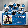 Graduation Custom Photo Plastic Table Runner