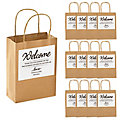 Hotel Welcome Bags with Personalized Favor Stickers