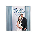 Love is Patient Wedding Photo Booth Backdrop Custom Banner