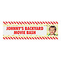 Movie Popcorn Party Photo Custom Banner - Small