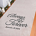 Personalized Always & Forever Aisle Runner