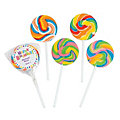 Personalized Birthday Celebration Swirl Lollipops