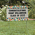 Personalized Bold Graduation Party Yard Sign