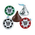 Personalized Casino Hershey's® Kisses® Stickers
