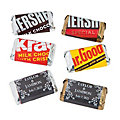 Personalized Chalkboard Floral Mini Candy Bar Stickers