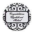 Personalized Classic Black & White Favor Stickers