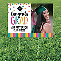 Personalized Congrats Girl Graduation Custom Photo Yard Sign