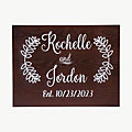 Personalized Couple's Names Wedding Sign