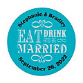 Personalized Eat Drink & Be Married Favor Stickers
