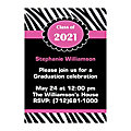 Personalized Girly Graduation Invitations