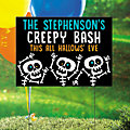 Personalized Goofy Ghouls Yard Sign Halloween Decoration