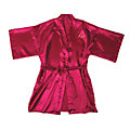 Personalized Hot Pink Satin Robe