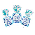 Personalized It's A Boy Swirl Lollipops with Cards
