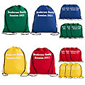 Personalized Large Bright Canvas Drawstring Bags
