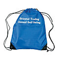 Personalized Large Royal Blue Drawstring Bags