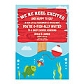 Personalized Little Fisherman Baby Shower Invitations