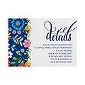 Personalized Mexican Floral Wedding Reception Cards