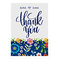 Personalized Mexican Floral Wedding Thank You Cards
