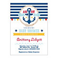 Personalized Nautical Boy Baby Shower Invitations