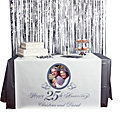 Personalized Photo 25th Anniversary Table Runner
