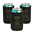 Personalized Premium Love is Love Neoprene Can Coolers