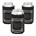 Personalized Premium Roaring 20s Art Deco Neoprene Can Coolers