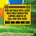 Personalized Railroad VBS Yard Sign
