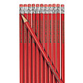 Personalized Red Pencils - 24 Pc.