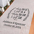 Personalized Ruth 1:16 Where You Go Aisle Runner