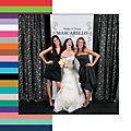 Personalized Scrollwork Photo Booth Backdrop