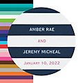 Personalized Simple Stripe Favor Stickers