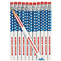 Personalized Stars & Stripes Pencils - 24 Pc.