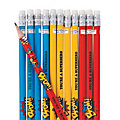 Personalized Superhero Pencils - 24 Pc.