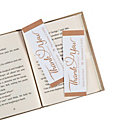 Personalized Thank You Wedding Bookmarks