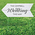 Personalized Wedding Arrow Road Sign