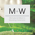 Personalized Wedding Initials Yard Sign