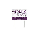 Personalized Wedding This Way Double-Sided Yard Sign