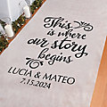 Personalized Where Our Story Begins Aisle Runner