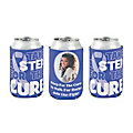 Purple Awareness Ribbon Custom Photo Premium Can Coolers