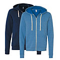 Unisex Tri-Blend Sponge Full-Zip Hooded Sweatshirt by Bella + Canvas Image Thumbnail 1