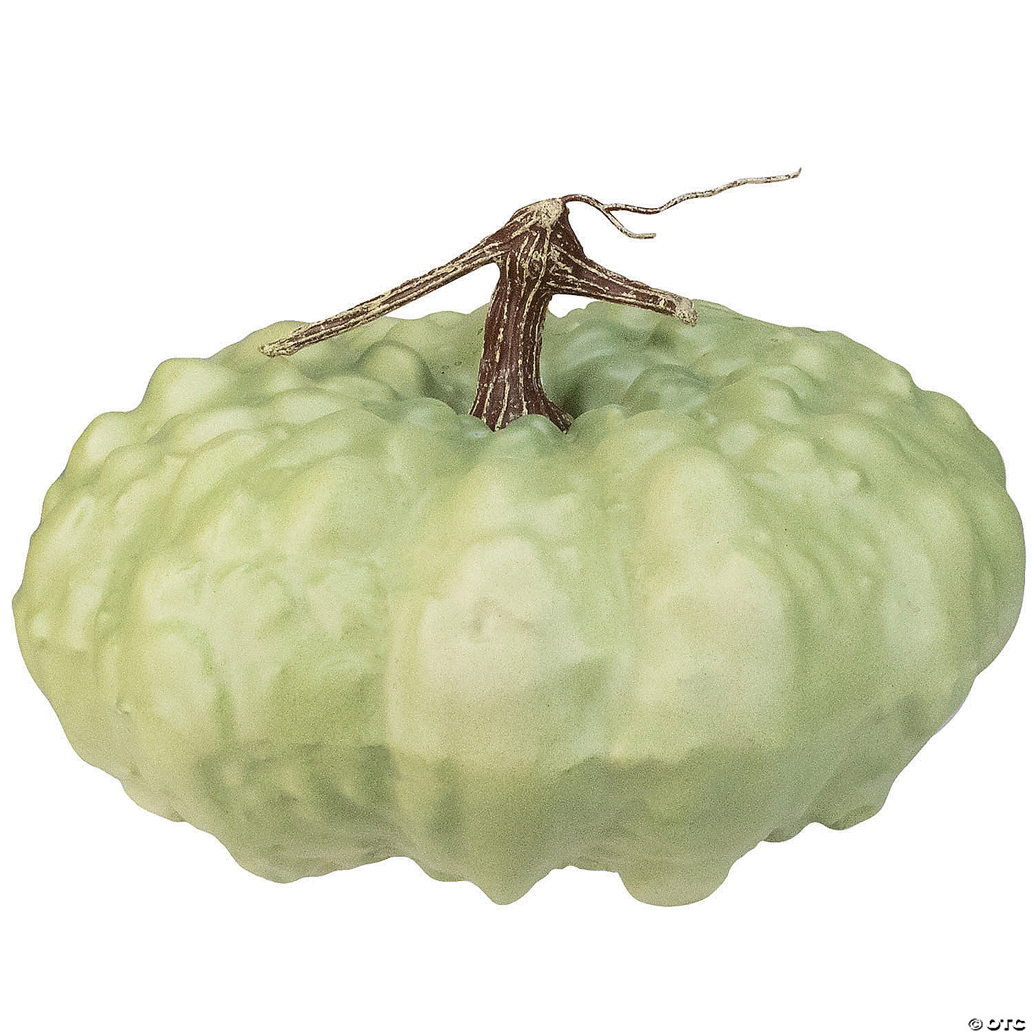 10 5 Green Textured Pumpkin Fall Harvest Table Top Decoration Oriental Trading