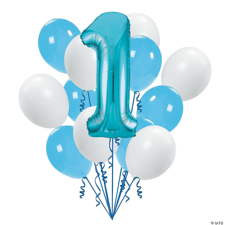1st Birthday Blue Balloon Bouquet Oriental Trading