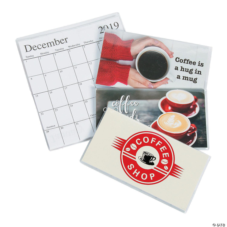 Pocket Calendar.2019 2020 Coffee Pocket Calendars